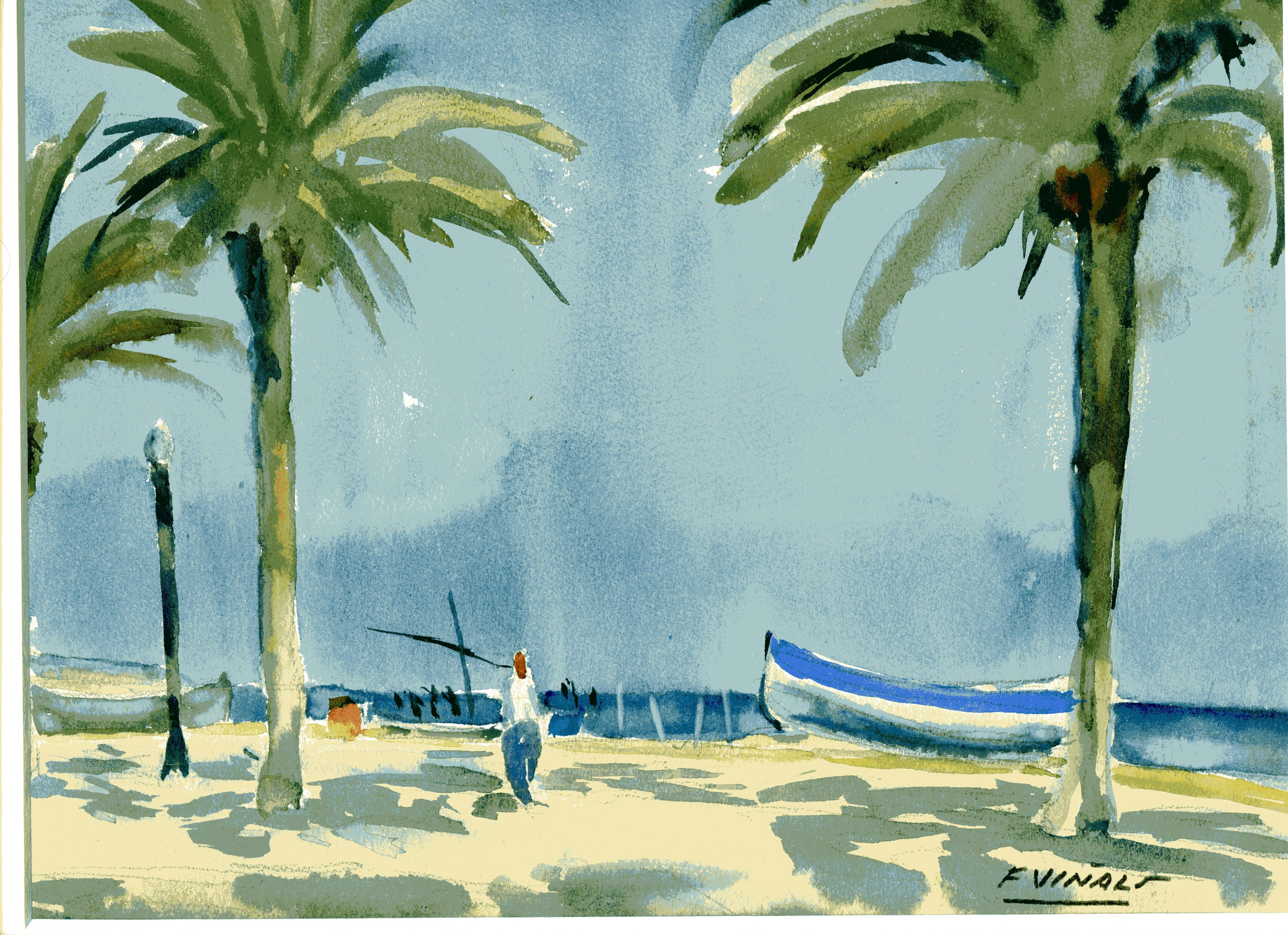 Pintor Frederic Viñals i Yscla Pintor Sitges